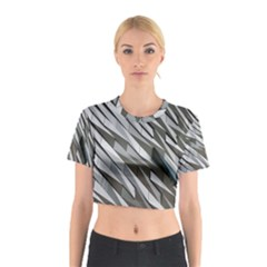 Abstract Background Geometry Block Cotton Crop Top