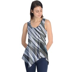 Abstract Background Geometry Block Sleeveless Tunic