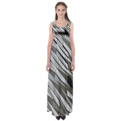 Abstract Background Geometry Block Empire Waist Maxi Dress