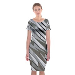 Abstract Background Geometry Block Classic Short Sleeve Midi Dress