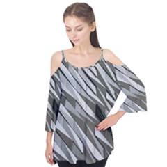 Abstract Background Geometry Block Flutter Tees