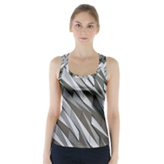 Abstract Background Geometry Block Racer Back Sports Top