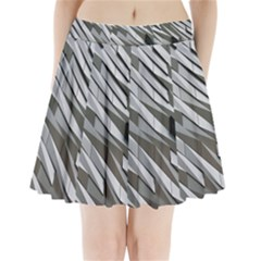 Abstract Background Geometry Block Pleated Mini Skirt