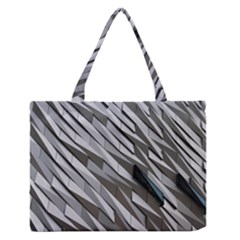 Abstract Background Geometry Block Medium Zipper Tote Bag