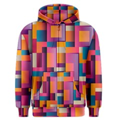 Abstract Background Geometry Blocks Men s Zipper Hoodie