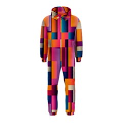 Abstract Background Geometry Blocks Hooded Jumpsuit (kids)