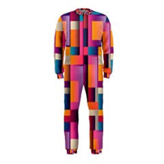 Abstract Background Geometry Blocks Onepiece Jumpsuit (kids)