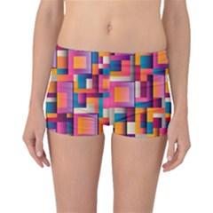 Abstract Background Geometry Blocks Boyleg Bikini Bottoms
