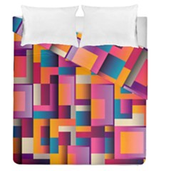 Abstract Background Geometry Blocks Duvet Cover Double Side (queen Size)