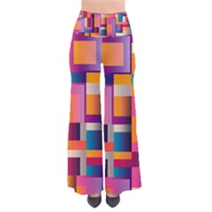 Abstract Background Geometry Blocks Pants