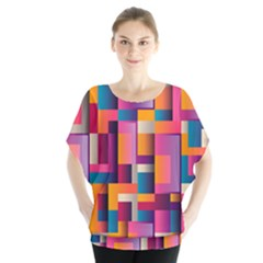 Abstract Background Geometry Blocks Blouse