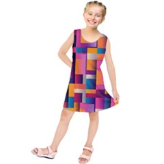 Abstract Background Geometry Blocks Kids  Tunic Dress