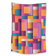 Abstract Background Geometry Blocks Large Tapestry