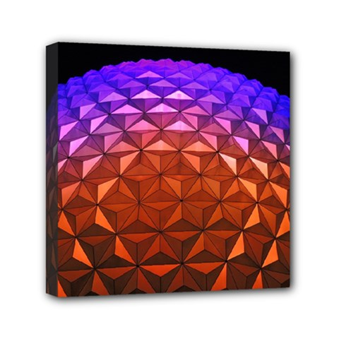 Abstract Ball Colorful Colors Mini Canvas 6  X 6