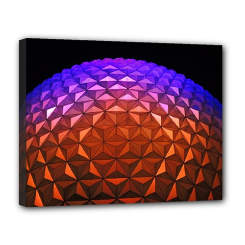 Abstract Ball Colorful Colors Canvas 14  X 11