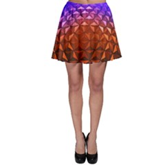 Abstract Ball Colorful Colors Skater Skirt