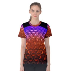 Abstract Ball Colorful Colors Women s Cotton Tee