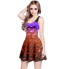 Abstract Ball Colorful Colors Reversible Sleeveless Dress