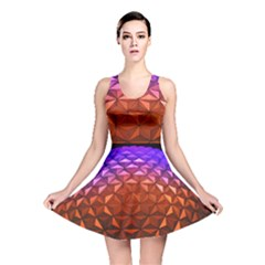 Abstract Ball Colorful Colors Reversible Skater Dress