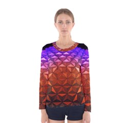 Abstract Ball Colorful Colors Women s Long Sleeve Tee