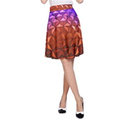 Abstract Ball Colorful Colors A Line Skirt