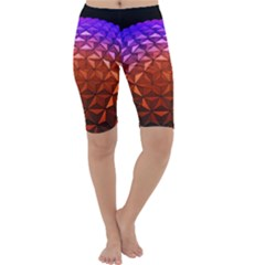 Abstract Ball Colorful Colors Cropped Leggings