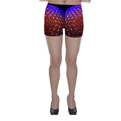 Abstract Ball Colorful Colors Skinny Shorts