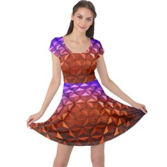 Abstract Ball Colorful Colors Cap Sleeve Dresses