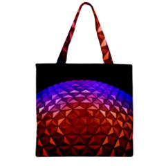 Abstract Ball Colorful Colors Zipper Grocery Tote Bag
