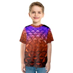 Abstract Ball Colorful Colors Kids  Sport Mesh Tee
