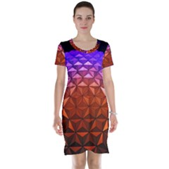 Abstract Ball Colorful Colors Short Sleeve Nightdress