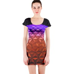 Abstract Ball Colorful Colors Short Sleeve Bodycon Dress