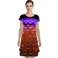 Abstract Ball Colorful Colors Cap Sleeve Nightdress