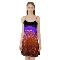 Abstract Ball Colorful Colors Satin Night Slip