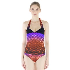 Abstract Ball Colorful Colors Halter Swimsuit