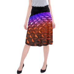 Abstract Ball Colorful Colors Midi Beach Skirt