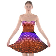 Abstract Ball Colorful Colors Strapless Bra Top Dress