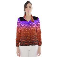 Abstract Ball Colorful Colors Wind Breaker (women)