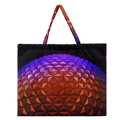 Abstract Ball Colorful Colors Zipper Large Tote Bag