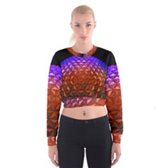 Abstract Ball Colorful Colors Women s Cropped Sweatshirt