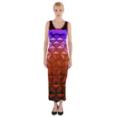 Abstract Ball Colorful Colors Fitted Maxi Dress