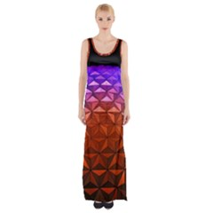 Abstract Ball Colorful Colors Maxi Thigh Split Dress