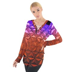 Abstract Ball Colorful Colors Women s Tie Up Tee