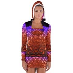 Abstract Ball Colorful Colors Women s Long Sleeve Hooded T Shirt