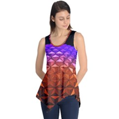 Abstract Ball Colorful Colors Sleeveless Tunic