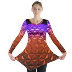 Abstract Ball Colorful Colors Long Sleeve Tunic
