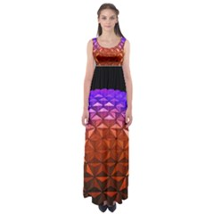Abstract Ball Colorful Colors Empire Waist Maxi Dress