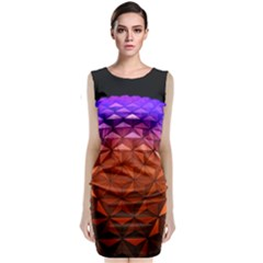 Abstract Ball Colorful Colors Classic Sleeveless Midi Dress