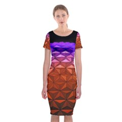 Abstract Ball Colorful Colors Classic Short Sleeve Midi Dress
