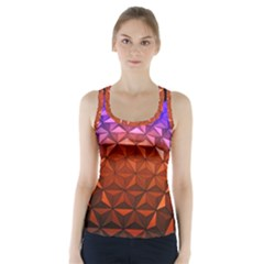 Abstract Ball Colorful Colors Racer Back Sports Top